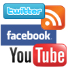 Facebook, Twitter, YouTube, & Announcement RSS Feed